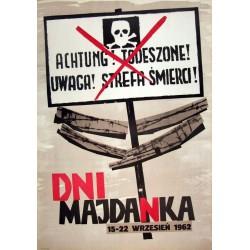 Plakat z 1962 r. Dni Majdanka