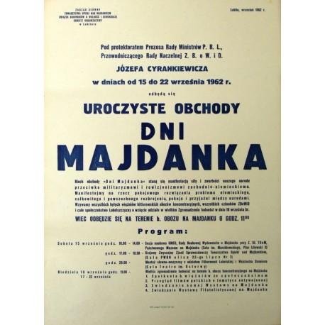 Uroczyste obchody Dni Majdanka z udziałem premiera J. Cyrankiewicza