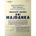Afisz z 1962 r. Uroczyste obchody Dni Majdanka
